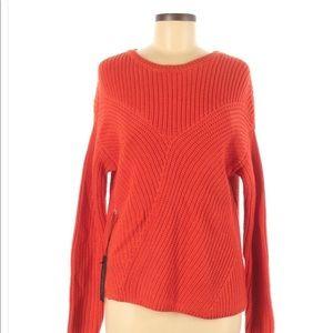 Rachel Zoe Orange Red Chunky Oversized Sweater New